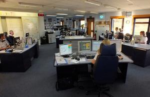 image of Coastguard control room