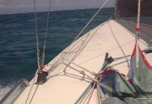 image of sailboat Planning downwind off Brighton