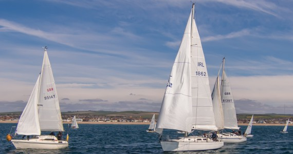 image of Yachts racing off Shoreham By Sea