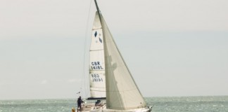 image of Sailing yacht off Sussex coast