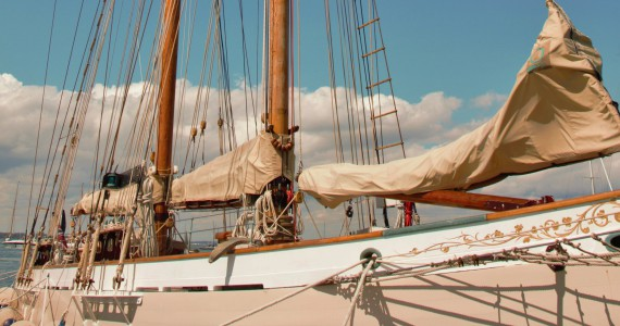 image of Classic yacht moored in Cowes