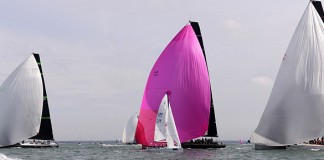 image of yachts at the start of Cowes Week 2015