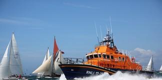 image of RNLI lifeboat at sea