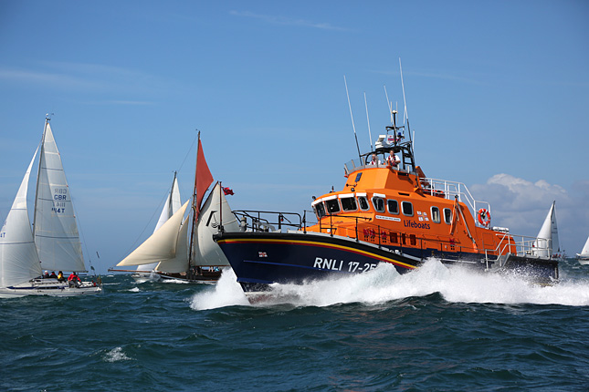 image of RNLI lifeboat at sea