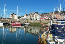 image of St Valery harbour Normandy