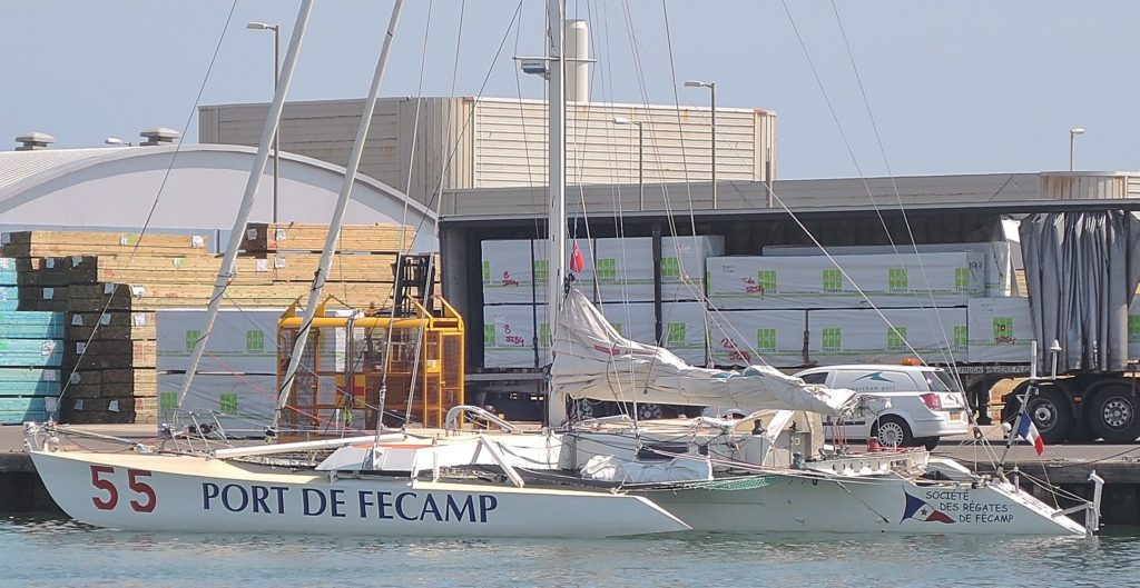 image of French trimaran Shoreham Harbour