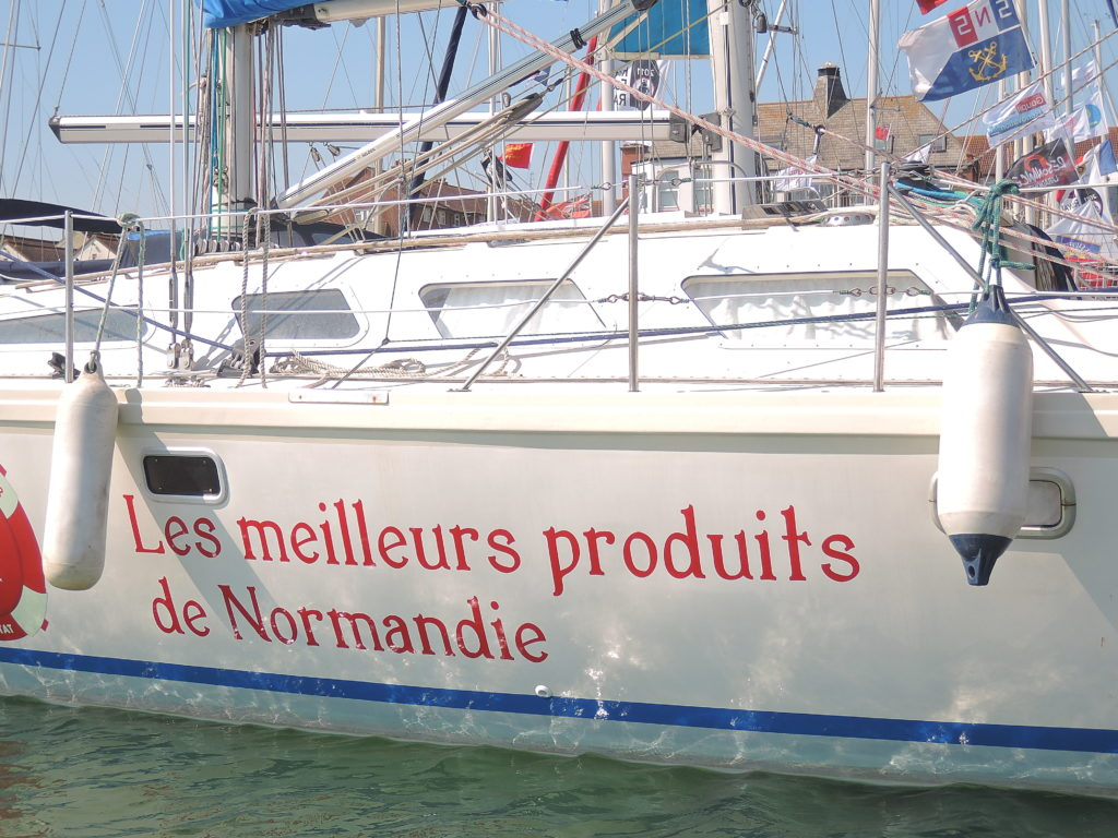 image of French yacht moored in Lady Bee Marina