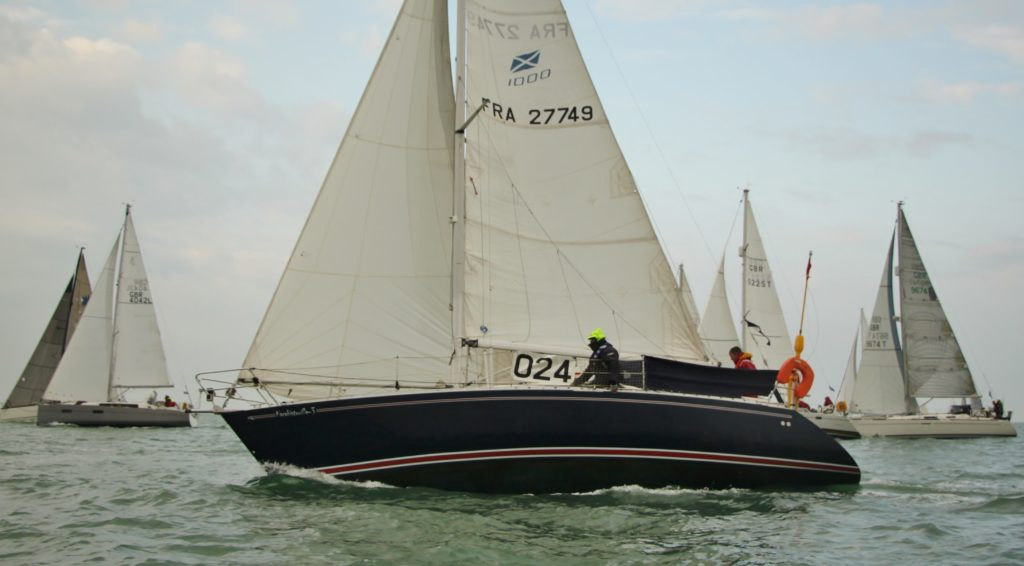 image of French flagged entrant 024 just after the start RER 2016