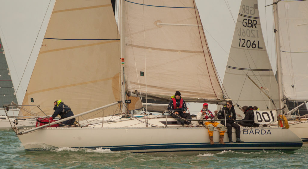 image of SYC commodore Steve Vyse's Barda, off Brighton RER 2016