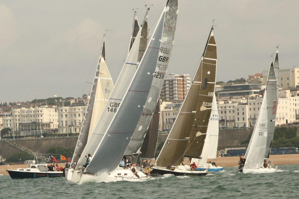 image of Yachts on start line IRC Sussex Championships 2016