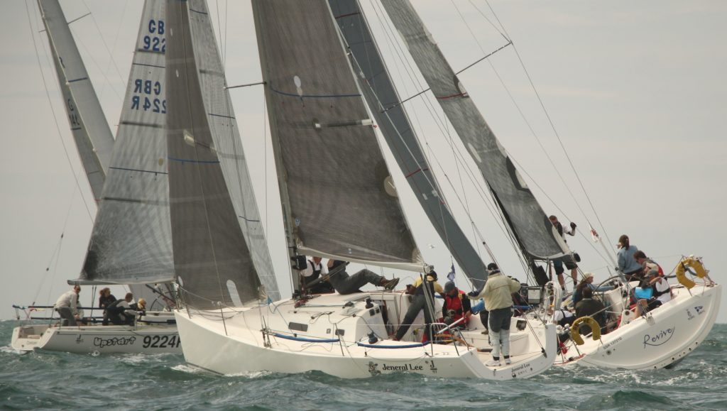 image of Yachts sailing upwind