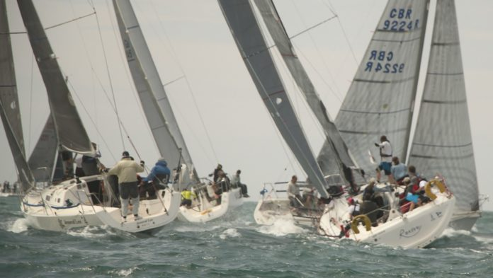 image of racing yachts