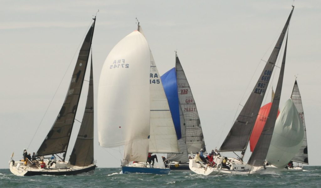 image of Racing yachts off Brighton