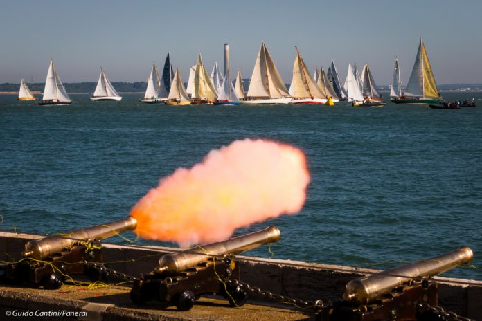 Image of Yachts starting from RYS Cowes. photo credit Guido Cantini