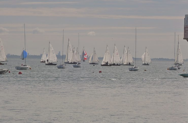 image of Yachts off the front at Cowes IOW