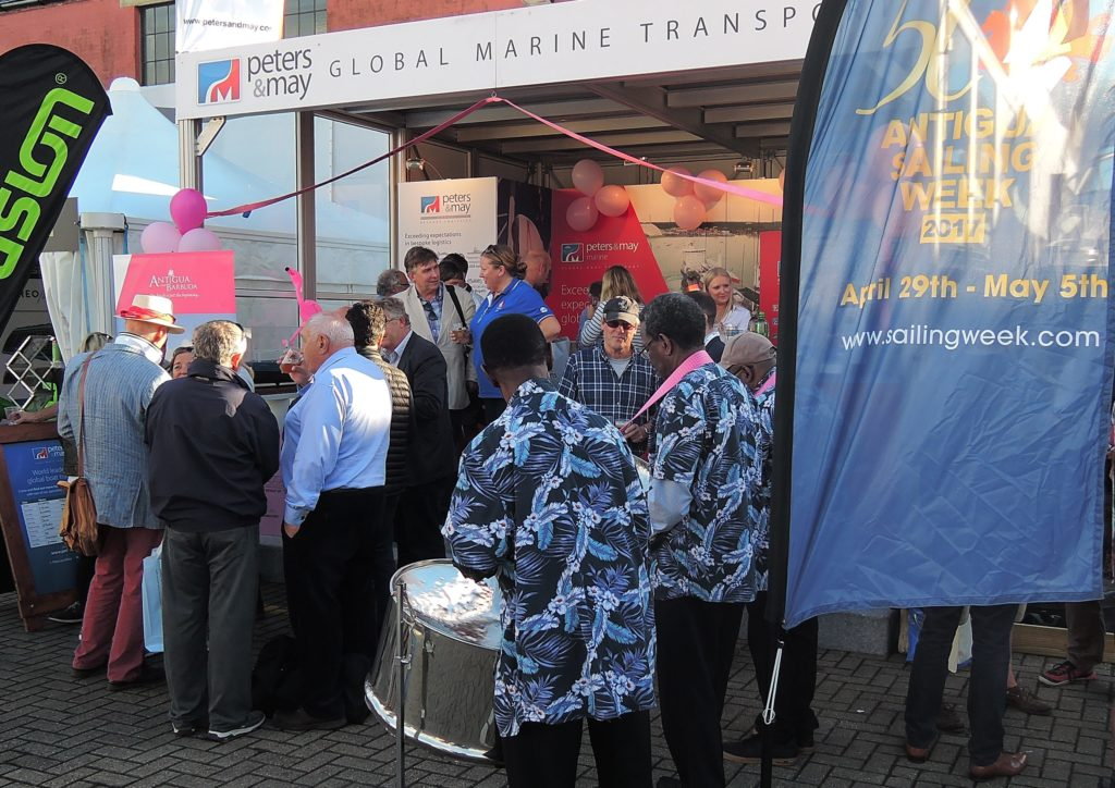 image of Antigua Sailing Week held a arty complete with steel band at the Peter's and May stand