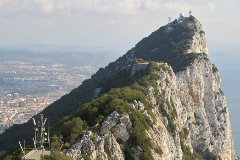 image of The Rock of Gibraltar, 1400ft high complete with listening posts