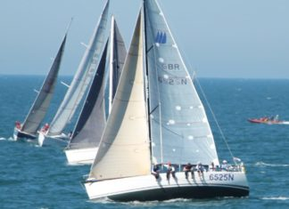 image of yachts off Brighton readying for the start of the Fecamp Royal Escape Race 2017