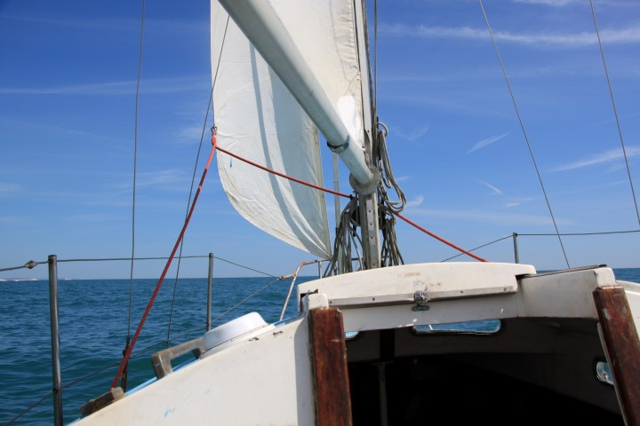 Image of Helena is a fine sailor and her new sails give her a fair turn of speed.