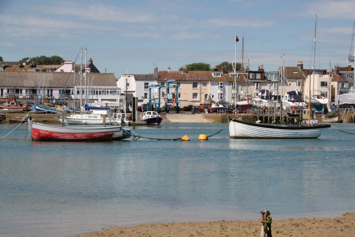 image of Except at high tide Sussex yacht Club's slipway remains idle as the river isn't navigable by keel craft