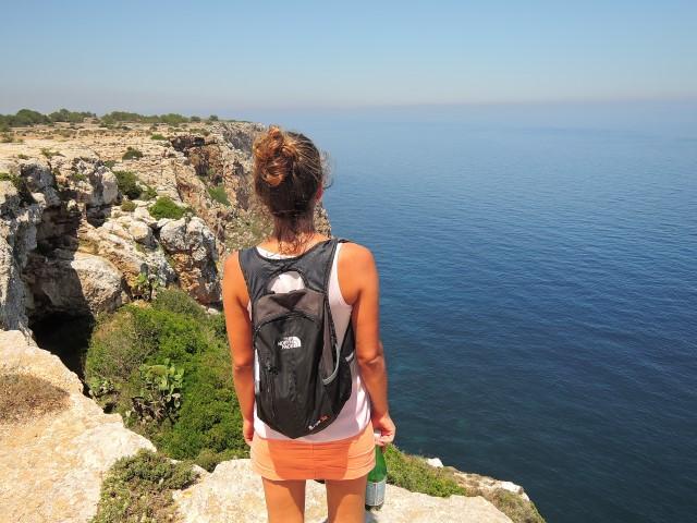 image of Overlooking the cliffs at Faro de La Mola on Formentera