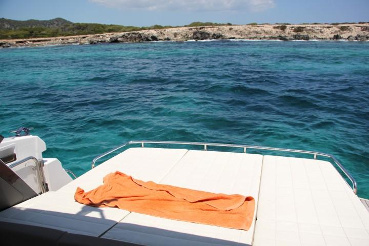 image of The sunbathing platform had plenty of room for two
