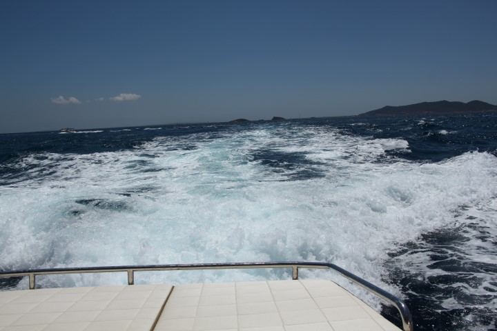 image of Twin 330 HP engines gave a smooth ride off Ibiza
