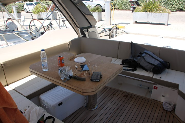 image of Deck seating was spacious, comfortable and sheltered- well designed and thought out