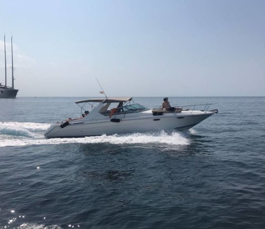 image of photo credit Amoyachts An Absolute 49 STL cruises in clear waters Yacht charter in Ibiza -part 2