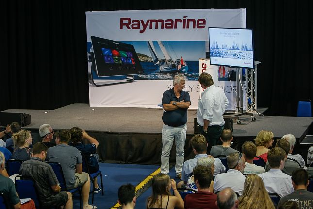 image of photo credit Paul Wyeth/Round The Island 2018. Raymarine co sponsor the race