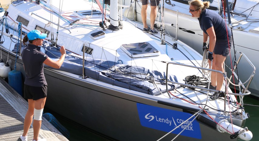 image of photo credit Chloe Farrier-Ledden Cowes 2018 crews getting ready for the day's action