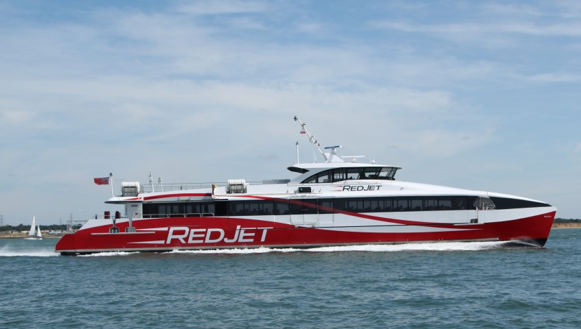 We can all get to Cowes by the fast Red Jet ferry which runs an extended service during Cowes Week 2018