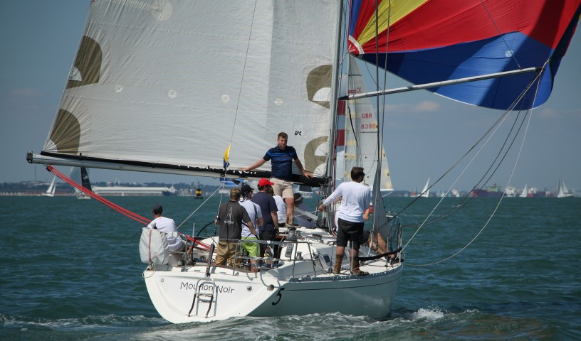 image of Racing yacht on the Solent Lendy Cowes Week 2018