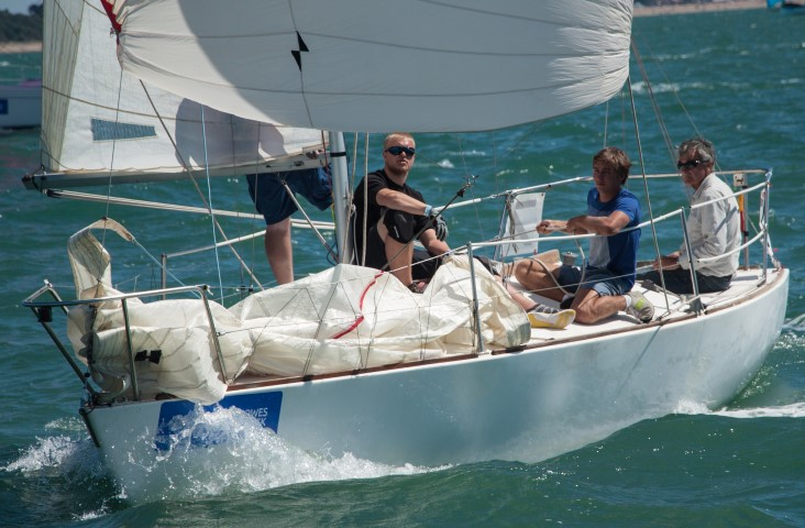 image of Lendy Cowes Week -Day 6 Downwind sailing under spinnaker