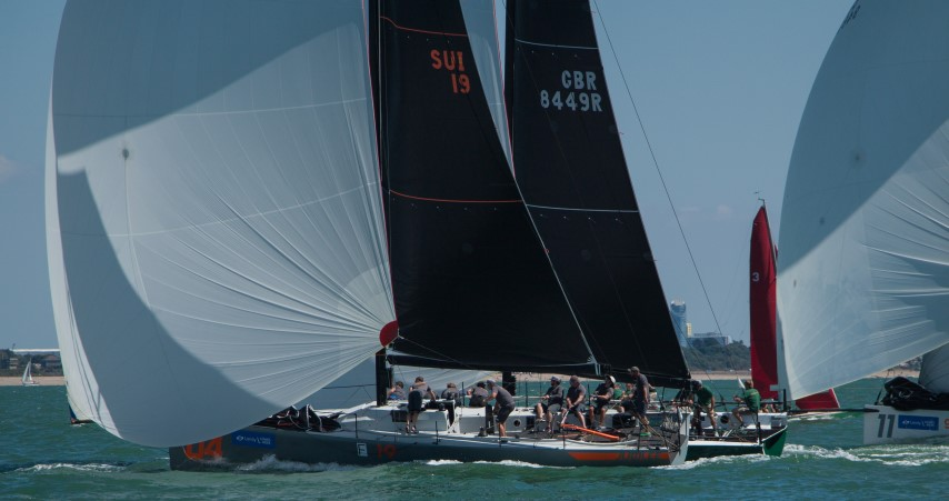 image of Fast 40+s battle it out on the water during Lendy Cowes Week 2018