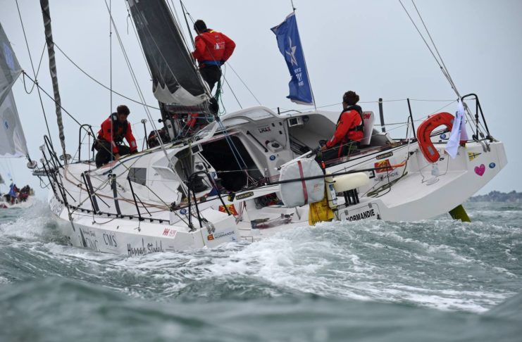 image of Hannah Stodel's Region Normandie Round Britain and Iredland Race 2018-Finish photo credit RORC