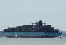 image of Container ships make the Solent very busy