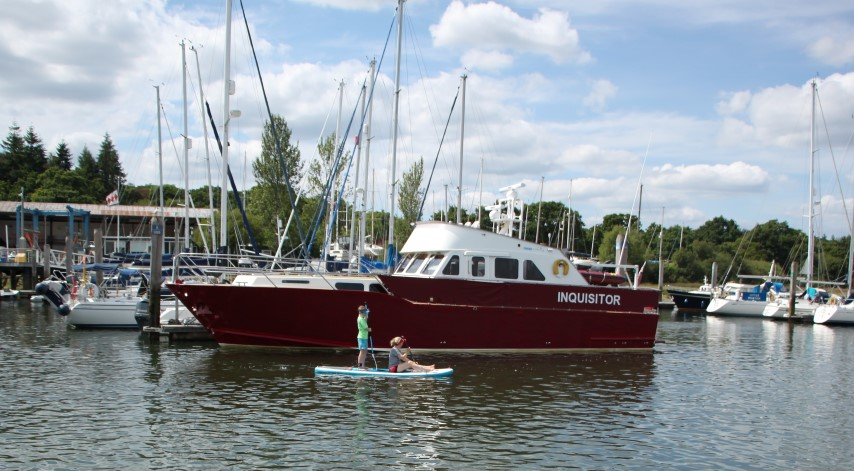 image of Buckler's Hard also has modern mooring able to take visitors' craft