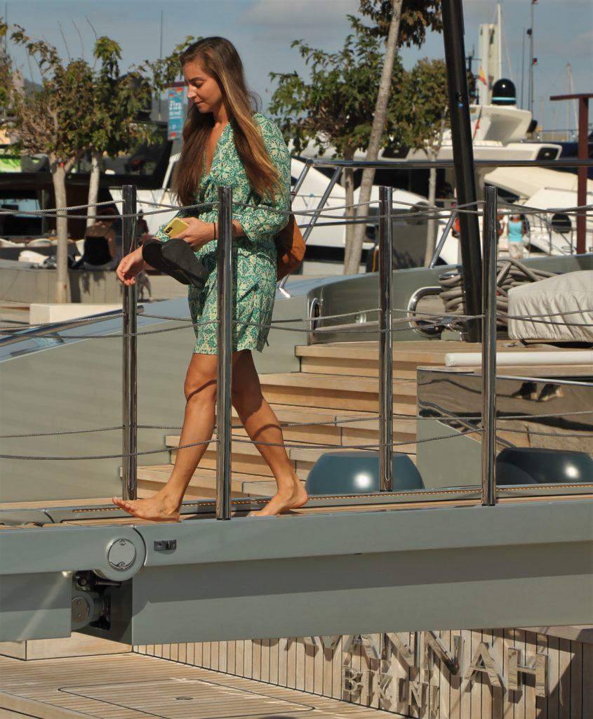Savannah's boarding ladder