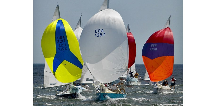 image of J24s racing