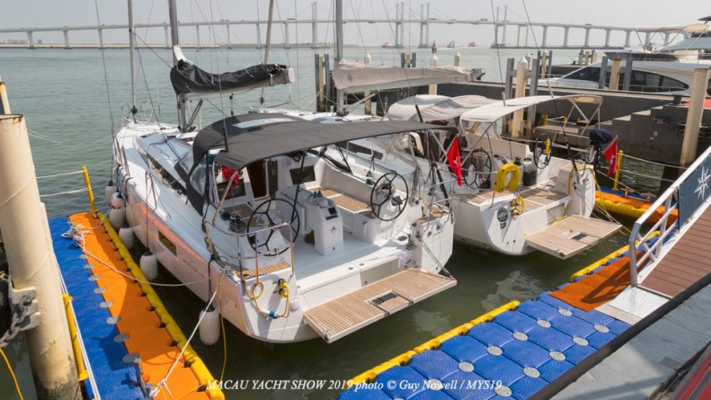 image of boats on display at 9th Macau Yacht Show