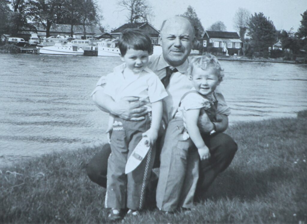 William with his father and brother Kingston upon Thames 1958