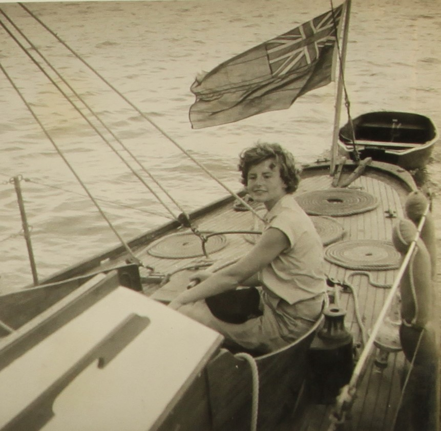 image of Anne Bowater helming