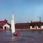 image of Scorpion 14ft dinghy sailed by William and his elder brother Littlehampton 1970