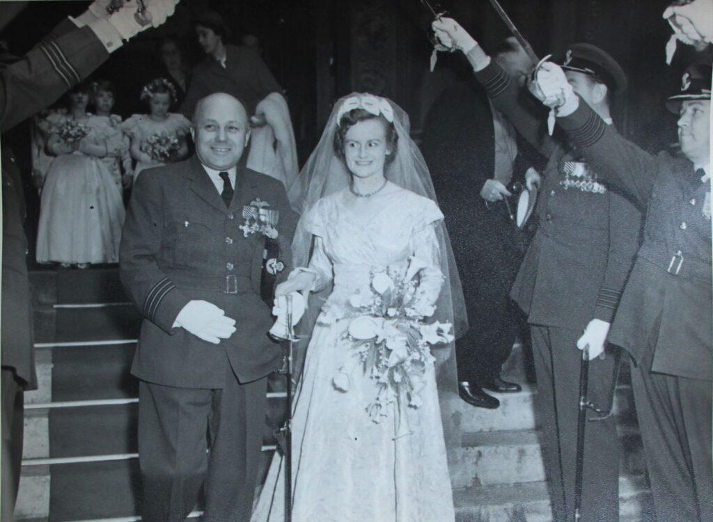 image of wedding 1954