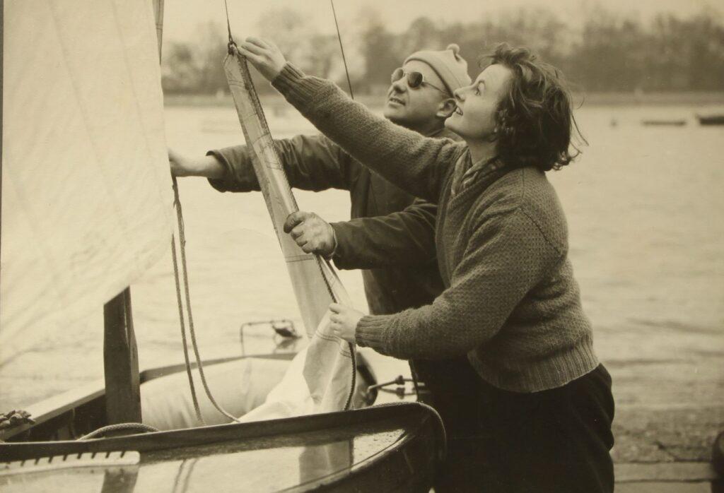 Stuart and Anne sailing together 1952