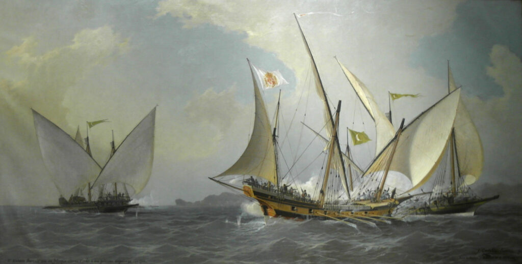 image of barbary pirates' ship