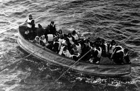image of collapsible lifeboat
