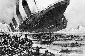 image of Titanic sinking