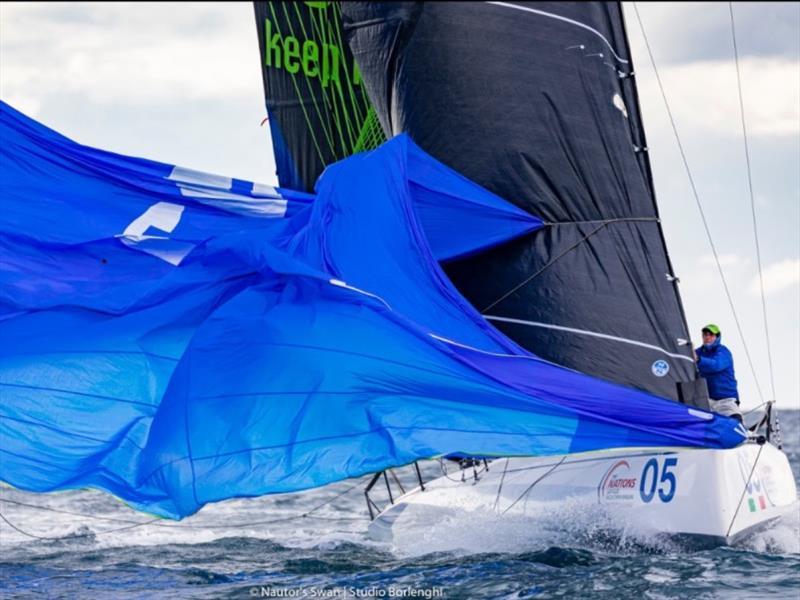 image of swan racing yacht
